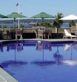 30' x 60' commercial pool with all ceramic tile interior finish.