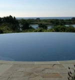 60' circular pool in the sky with vanishing edge.