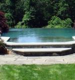 Vanishing edge spa into vanishing edge pool.