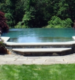Vanishing edge spa into vanishing edge pool.
