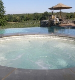 The same spa from pool project 1, alternate view of horizon.