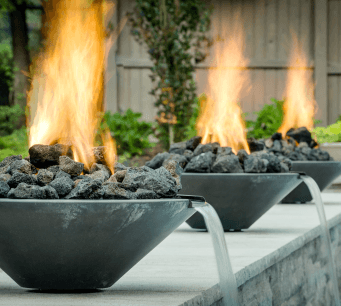 Providence water features westerly pool design for Fire features for swimming pools